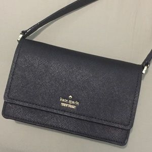 Kate Spade Black Saffiano Leather Crossbody Bag